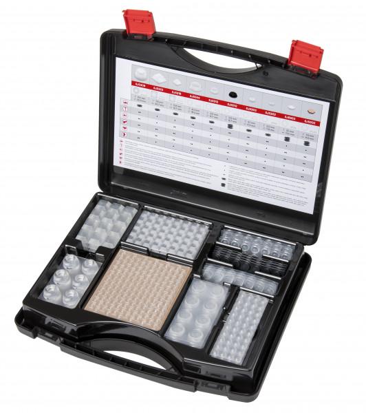 3M™ Bumpon™ Set 017 Elastikpuffer, Koffer mit mehr als 700 Stück, transparent und schwarz