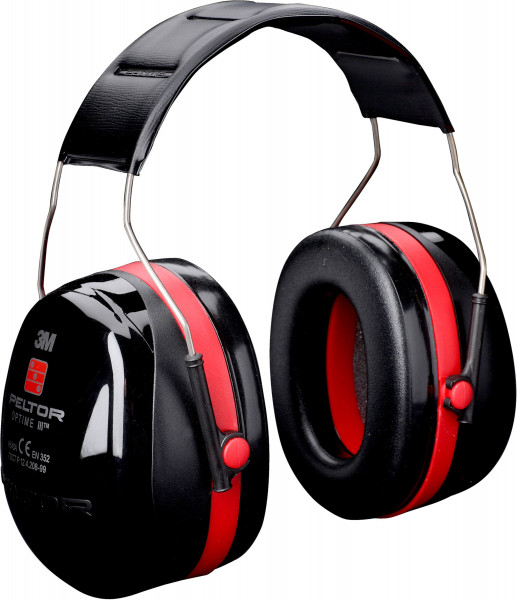 Artikelbild des Artikels 3M™ Peltor™ Optime™ III Kapselgehörschutz H540A, Kopfbügel, 35 dB, Schwarz