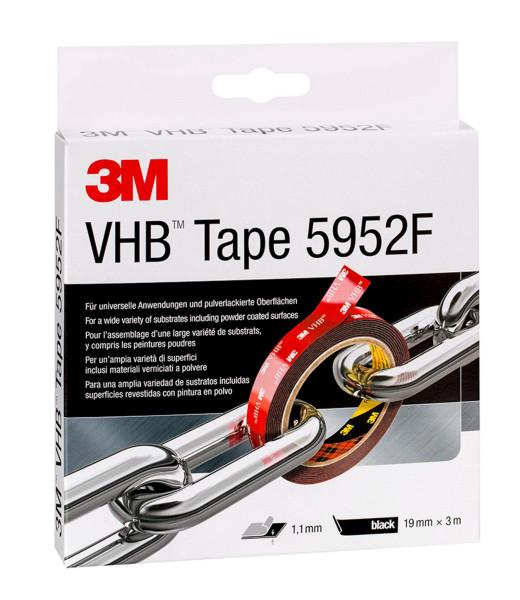 Artikelbild des Artikels 3M™ VHB™ Klebebänder 5952 F, Schwarz, 12 mm x 33 m, 1,1 mm