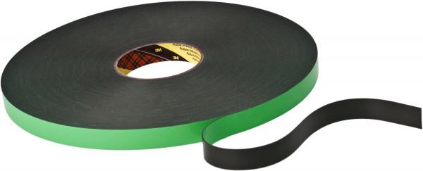 Artikelbild des Artikels 3M™ Doppelseitiges Klebeband mit Polyethylen Schaumstoffträger 9508 B, Schwarz, 19 mm x 66 m, 0,8 mm