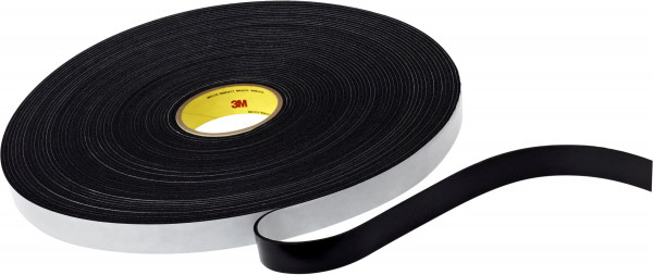 Artikelbild des Artikels 3M™ Scotchfoam™ Klebeband mit Vinyl-Schaumstoffträger 4508, Schwarz, 12,7 mm x 33 m, 3,2 mm