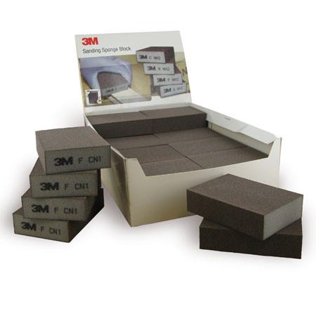 3M™ Schleifschwamm (soft)   68 mm x 100 mm x 26 mm   vierseitig