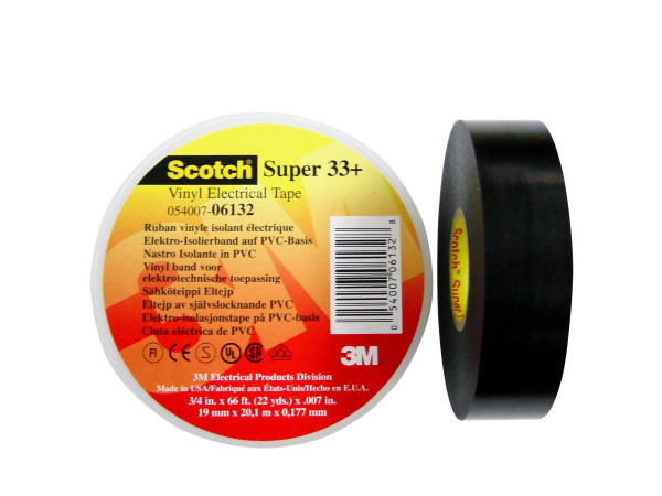 Artikelbild des Artikels Scotch® Super 33+ Vinyl Elektro-Isolierband 19 mm x 20 m
