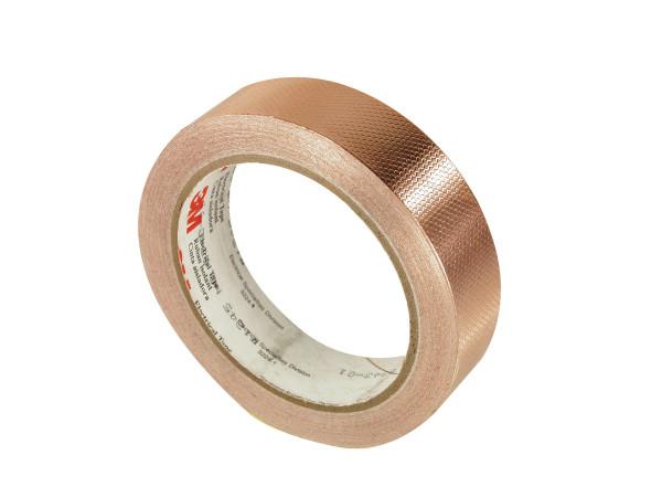 Artikelbild des Artikels 3M™ 1245 Geprägtes EMV-Kupfer-Abschirmband nichtleitend, 12 mm x 16,5 m